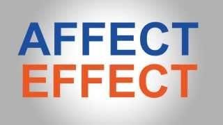 Affect v Effect