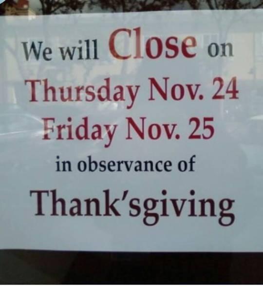ThanksgivingWednesday