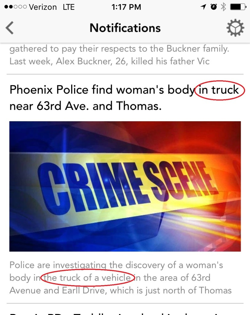 truck of a car