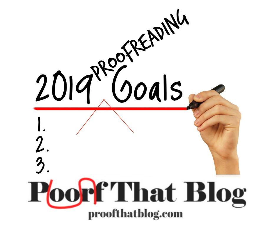 Proofreading goals