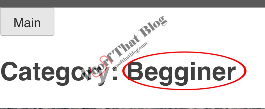 Error in spelling Beginner